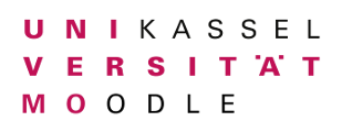Logo of Universität Kassel: moodle